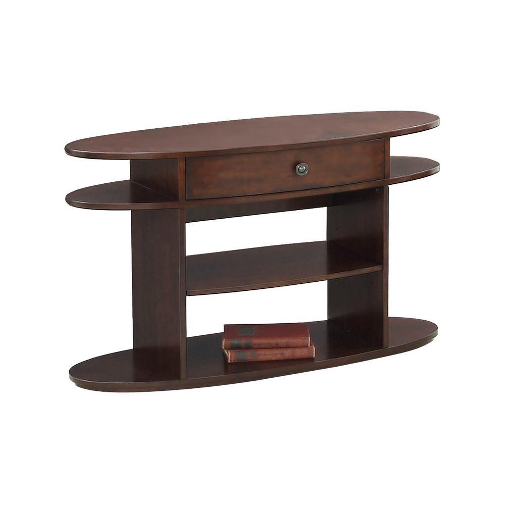 Metropolitan Dark Cherry And Birch Sofa Console Table