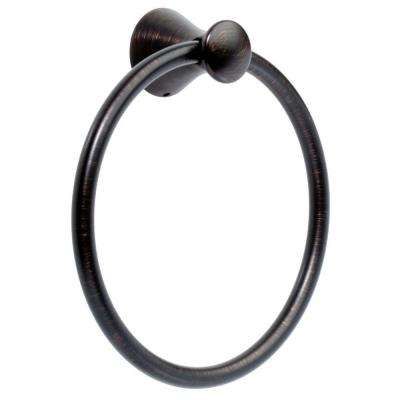 Lahara Towel Ring in SpotShield Venetian Bronze