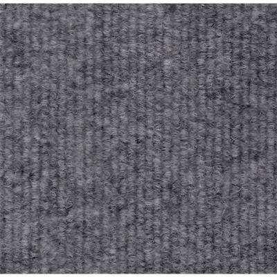 Platinum Single Rib 18 in. x 18 in. Carpet Tile (12 Tiles/Case)