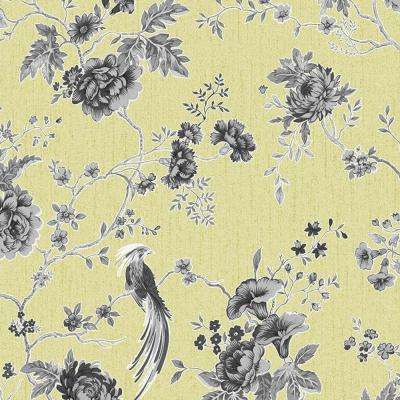 Green and Gray Exotica Removable Wallpaper