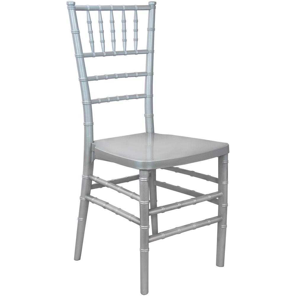 Advantage Silver Monoblock Resin Chiavari Chair RSCHI-MONO-S