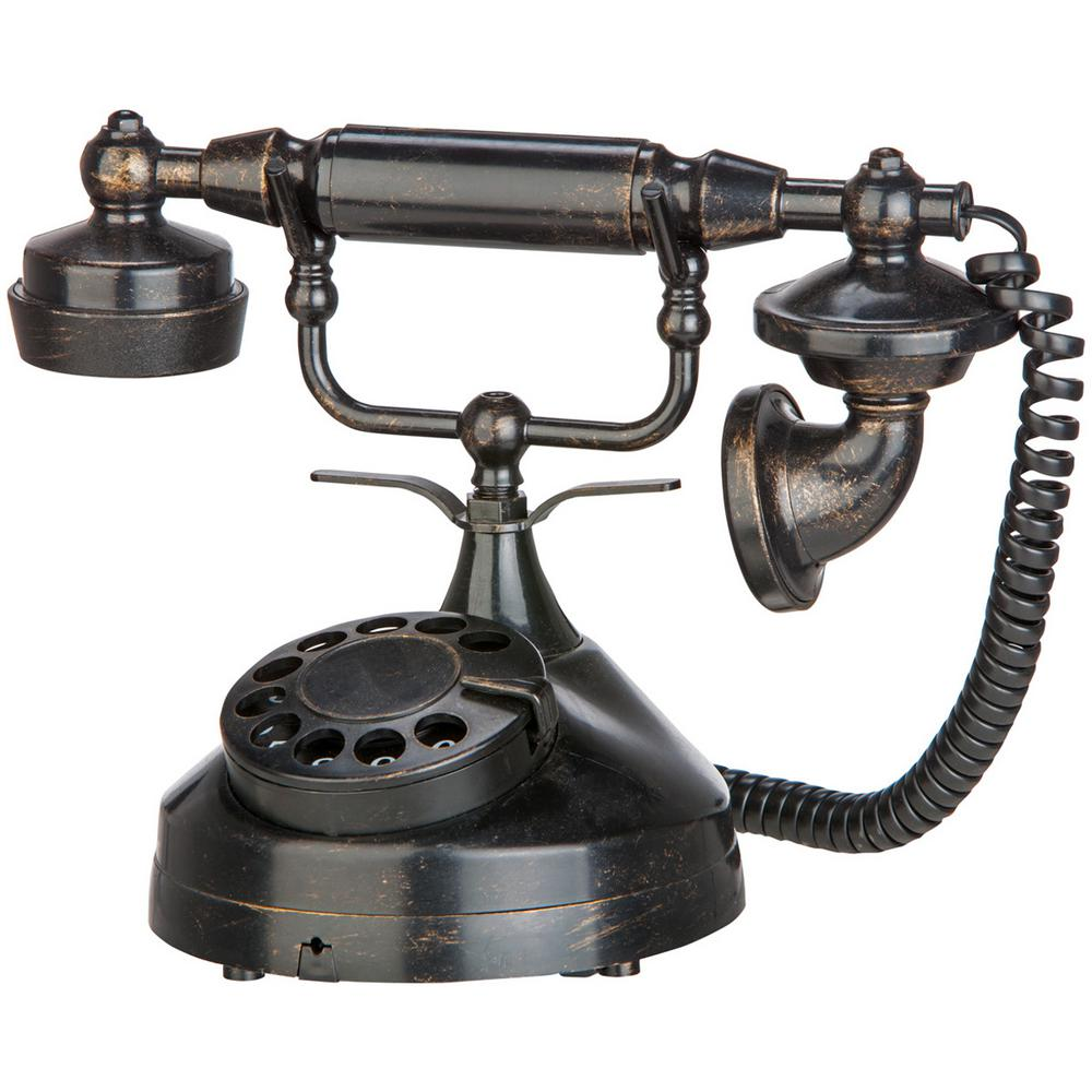 gemmy 12 in spooky telephone victorian style 71046x the home depot