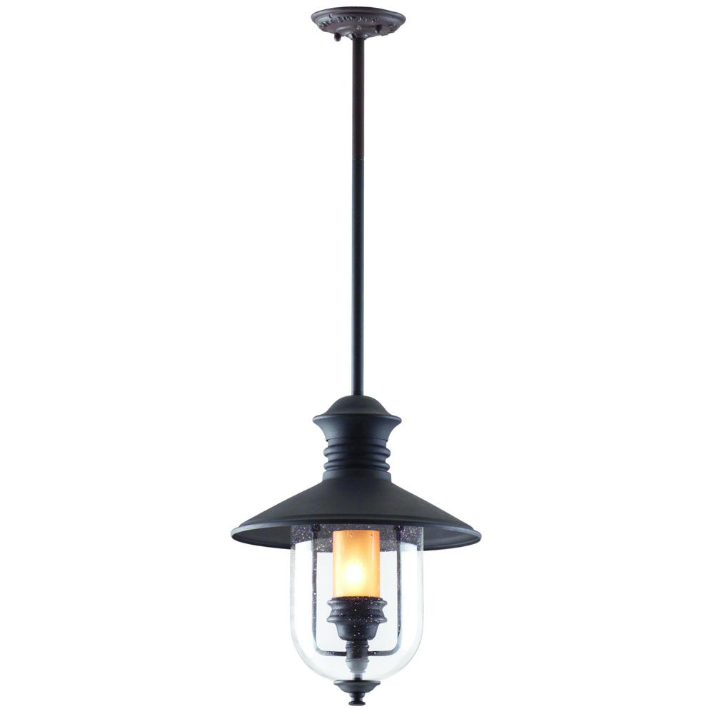 Troy Lighting Old Town 1-Light Natural Bronze Outdoor Pendant