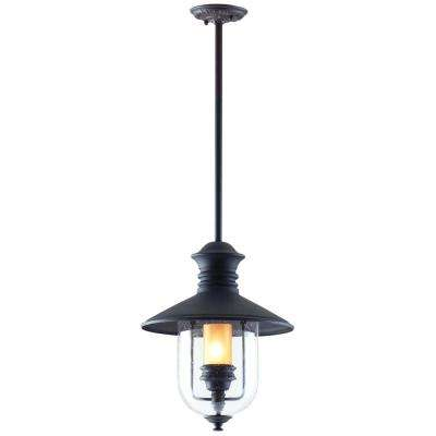 Old Town 1-Light Natural Bronze Outdoor Pendant