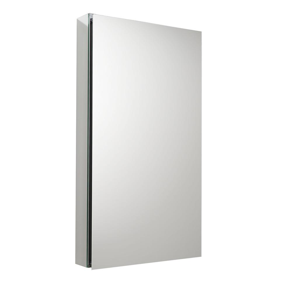 Fresca 20 in. W x 36 in. H x 5 in. D Frameless Recessed or Surface-Mounted Bathroom Medicine Cabinet