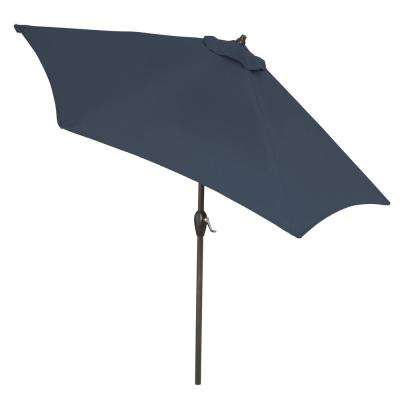 9 ft. Aluminum Market Tilt Patio Umbrella in CushionGuard Midnight