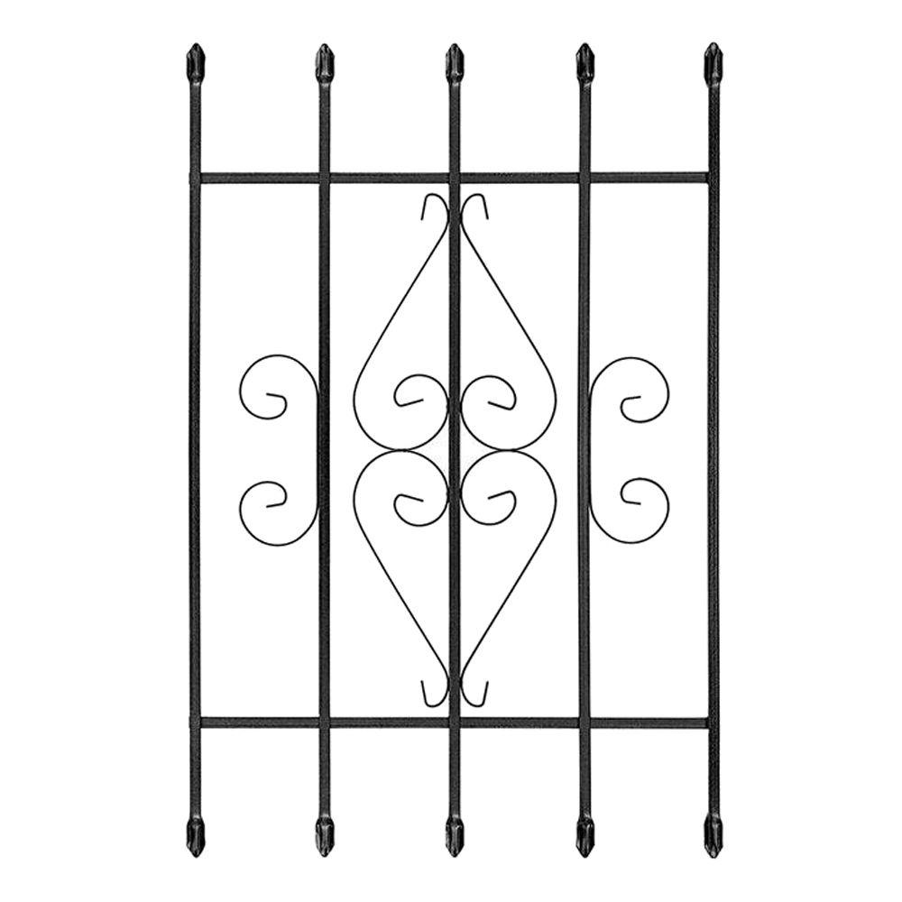 24 in. x 36 in. Su Casa Black 5-Bar Window Guard