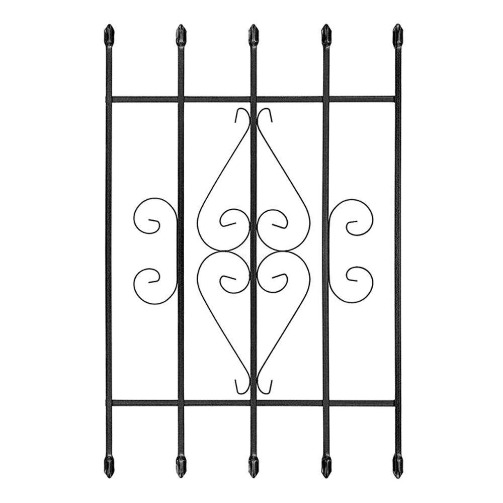 Unique Home Designs 24 in. x 36 in. Su Casa Black 5-Bar Window Guard