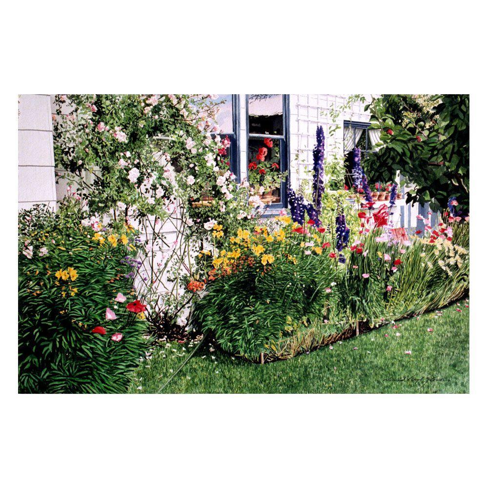 Trademark Fine Art 22 in. x 32 in. The Tangled Garden Canvas Art