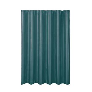Creative Home Ideas Jane Faux Silk 70 inch W x 72 inch L Shower Curtain with Metal Roller Hooks in Grey Teal by Creative Home Ideas