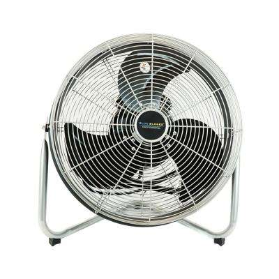 18 in. High Velocity Internal Oscillating Floor Fan
