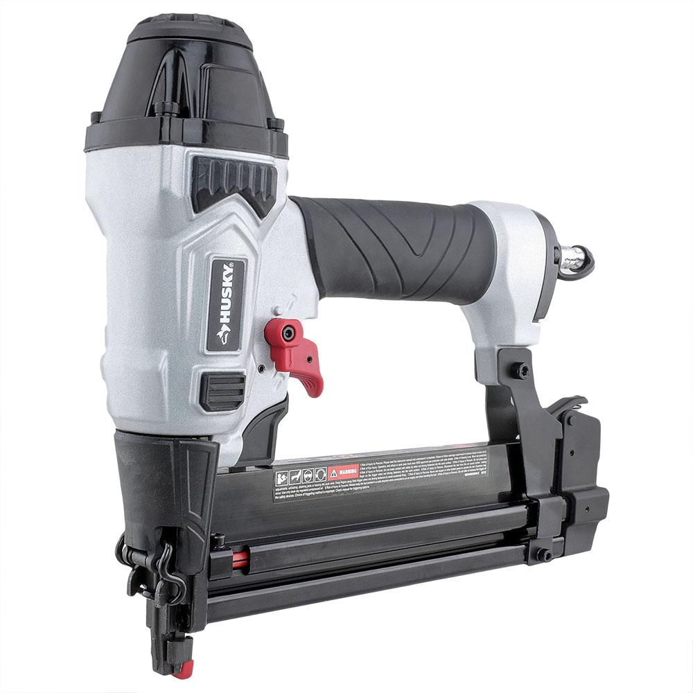 Husky Pneumatic 2-in-1 18 Gauge 2 in. Brad Nailer and 1/4 in. Narrow Crown Stapler with Fasteners (400 Count)
