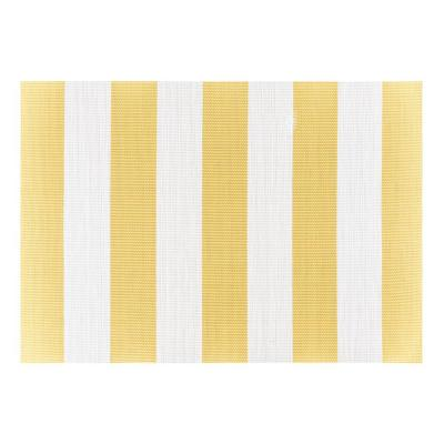 Cabana Stripe 19 in. x 13 in. Yellow 100% Textilene Placemats (Set of 4)