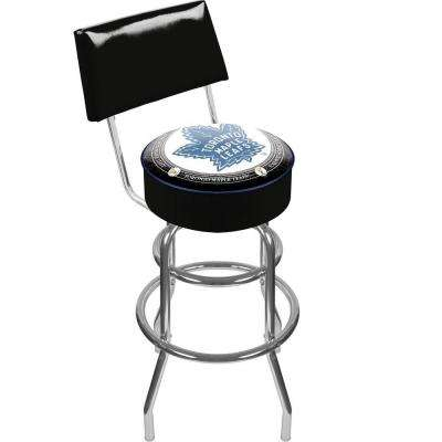 NHL Throwback Toronto Maple Leafs 30 in. Chrome Padded Swivel Bar Stool