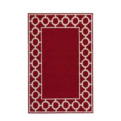 Espana Border Red 2 ft. x 3 ft. Area Rug
