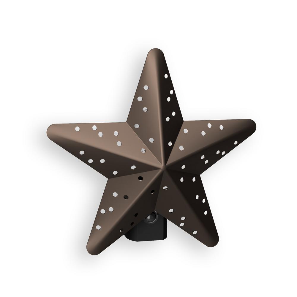 Bronze Tin Star Automatic LED Night Light