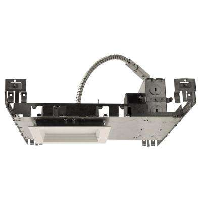 NICOR 5 in. White (3000K) LED Recessed Square Downlight Kit with Housing, Baffle Trim, and LED Module