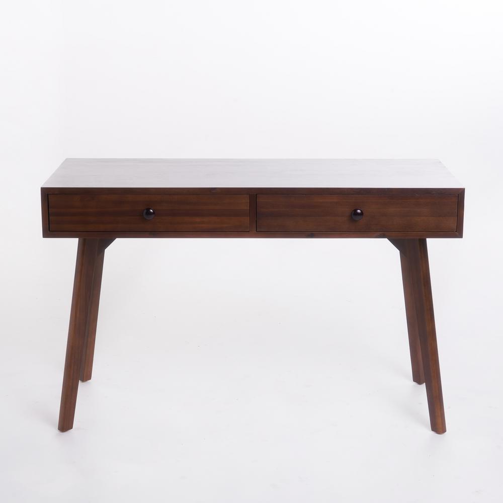 Julio Walnut Brown Acacia Wood Console Table