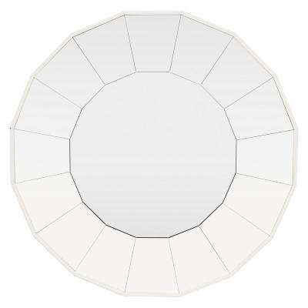 31.5 in. x 2 in. x 31.5 in. White Wall Mirror