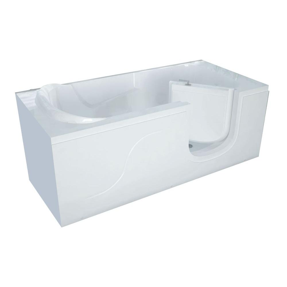 Universal Tubs 5 ft. x 30 in. Right-Drain Walk-In Soaking Tub in White