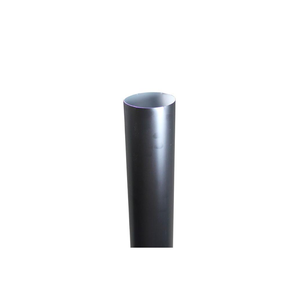 4 in. x 10 ft. Round Black Downpipe
