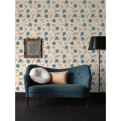 Sadie Teal Removable Wallpaper