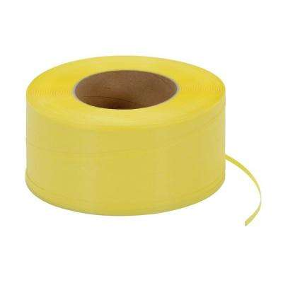 9,900 ft. Roll 9 in. x 8 in. Core Yellow Poly Strapping