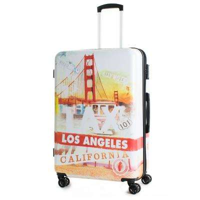California 24 in. Polycarbonate Expandable Spinner Luggage with TSA Lock