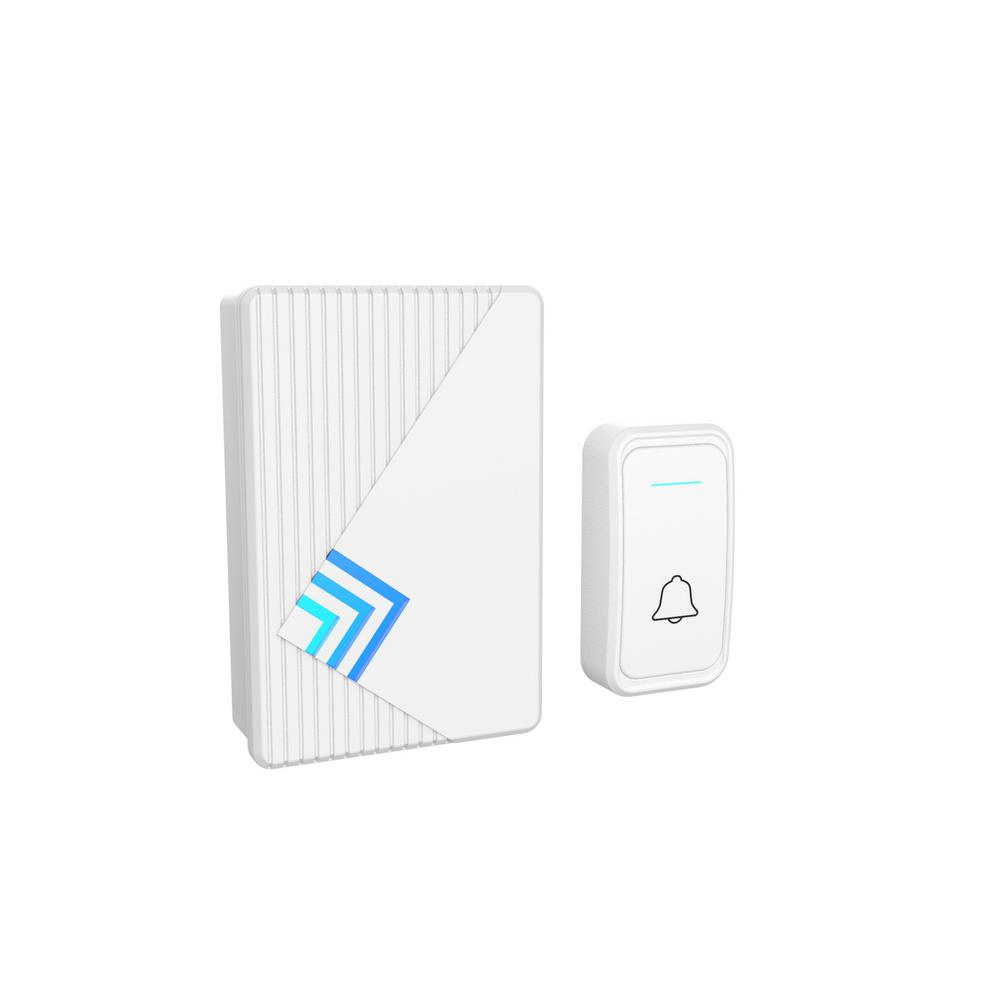 stalwart wireless electronic door bell with led indicator-hw200033
