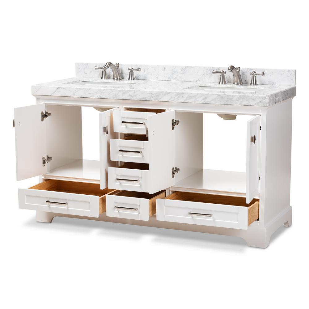 Baxton Studio 60 In. W X 34.7 In. H Bath Vanity In White W