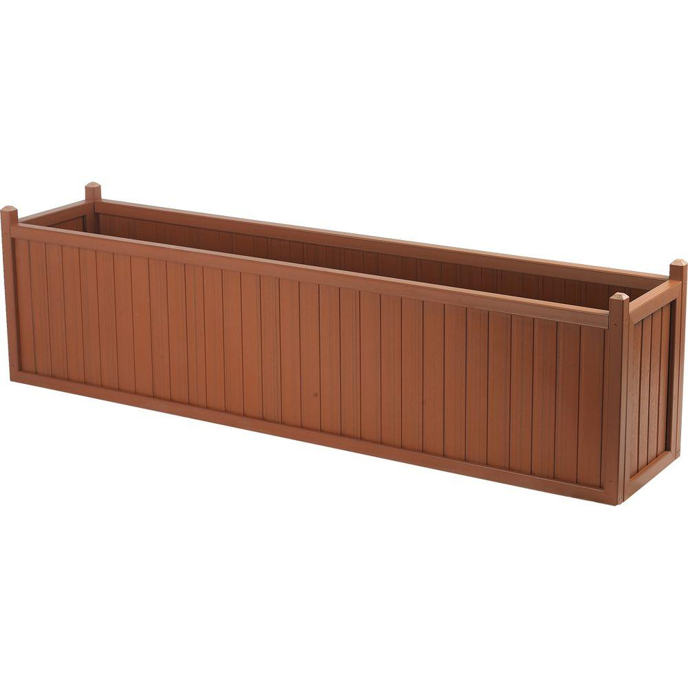 Cal Designs 69 in. Redwood Planter-DISCONTINUED