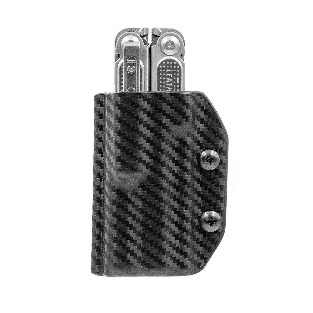 Kydex Multi-Tool Sheath for Leatherman Free P2 - Multi-Tool, Holder Belt Holster Cover EDC (Carbon Fiber Black)