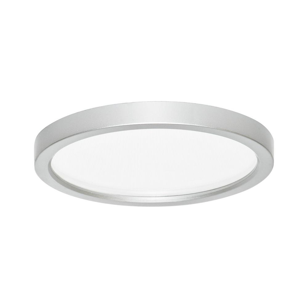 Slim Disk Round Smdl 5 In Nickel Recessed Integrated Led Trim Kit Surface Mount Ceiling Light 3000k Warm White