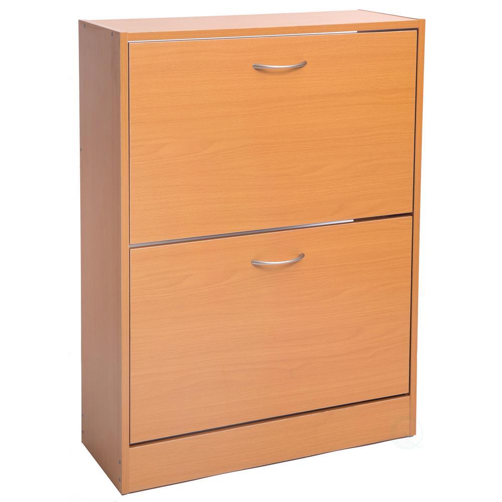 ffb633754d0 Baxton Studio 18-Pair Shirley Dark Brown Wood Storage Shoe Organizer ...