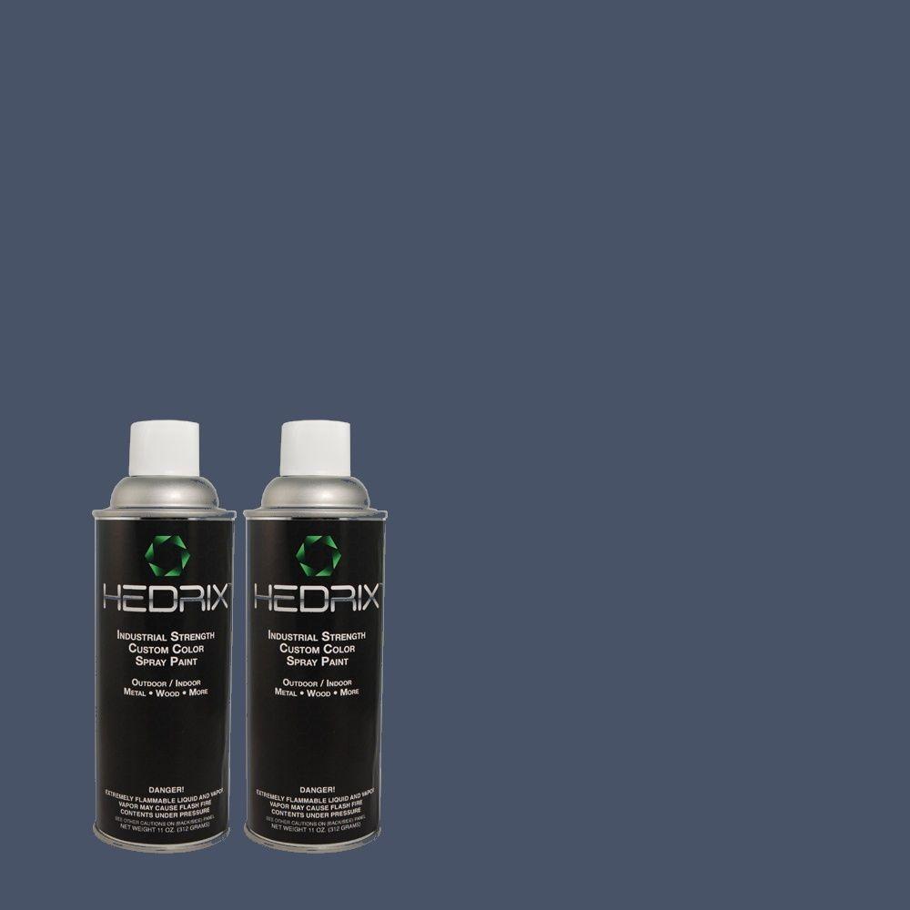 Hedrix 11 oz. Match of 600D-7 Daring Indigo Gloss Custom Spray Paint (2-Pack)