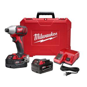 Milwaukee M18 18-Volt Lithium-Ion Cordless 1/4 inch Hex 2-Speed Impact Driver W/(2) 3.0Ah... by Milwaukee