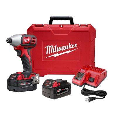 M18 18-Volt Lithium-Ion Cordless 1/4 in. Hex 2-Speed Impact Driver W/(2) 3.0Ah Batteries, Charger, Hard Case