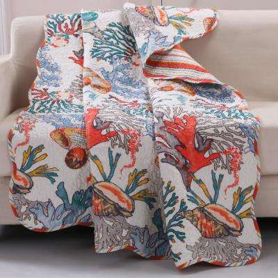 Atlantis Multi Quilted Cotton Throw