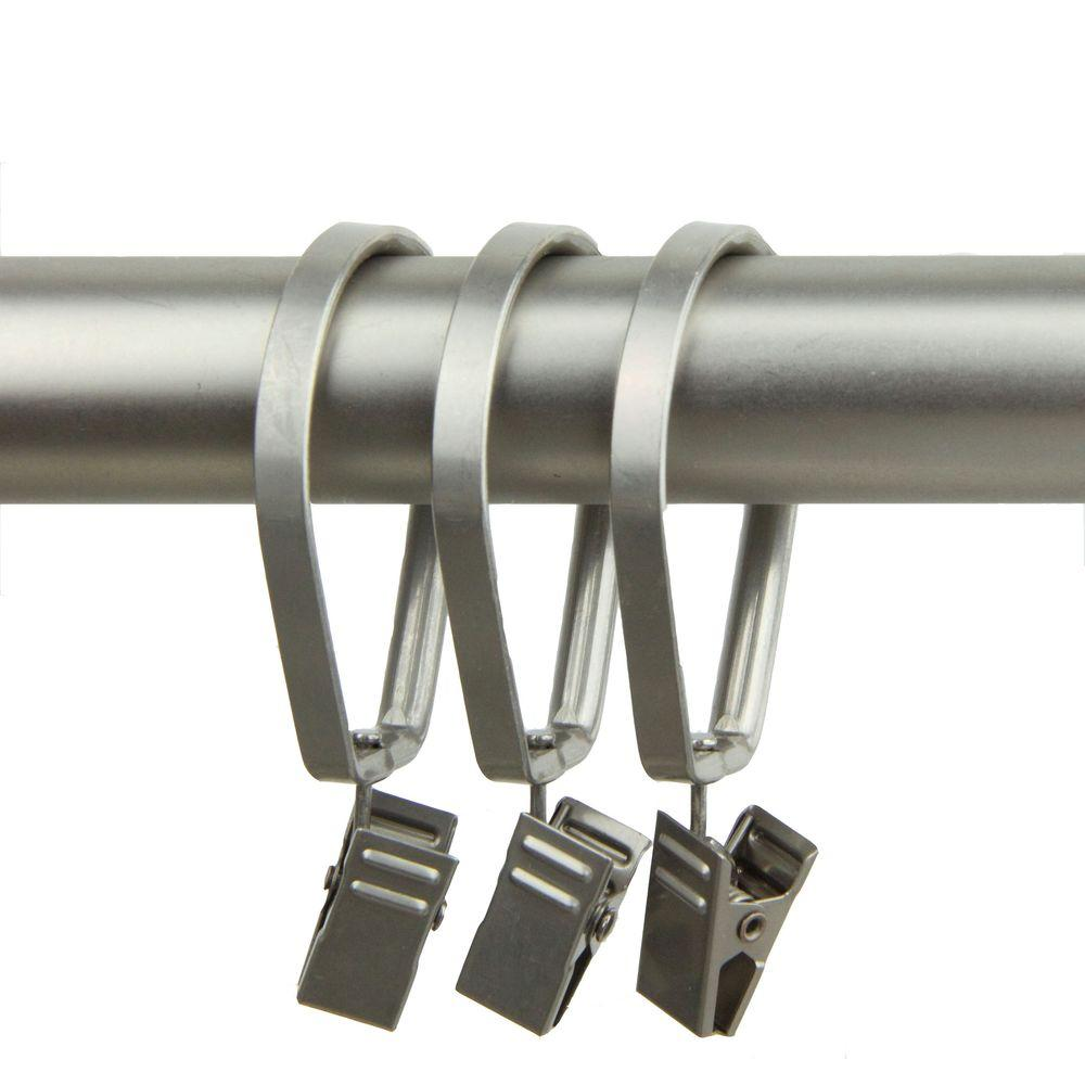 1-3/8 in. Decorative Deluxe Pivot Rings in Satin Nickel with Clips