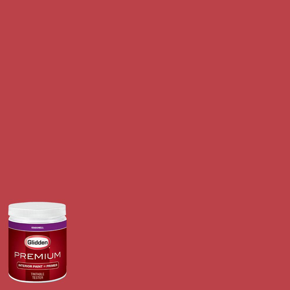 Glidden Premium 8 oz. #wnba-132A Atlanta Dream Red Eggshell Interior Paint with Primer