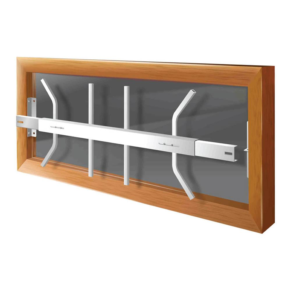 Removable 21 in. to 28 in. Adjustable Width 1-Bar Window Guard,