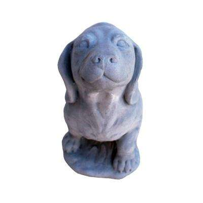 Cast Stone Dachshund Garden Statue - Antique Gray