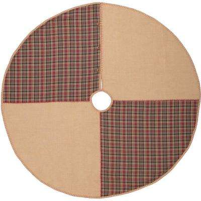 55 in. Clement Natural Tan Rustic Christmas Decor Tree Skirt