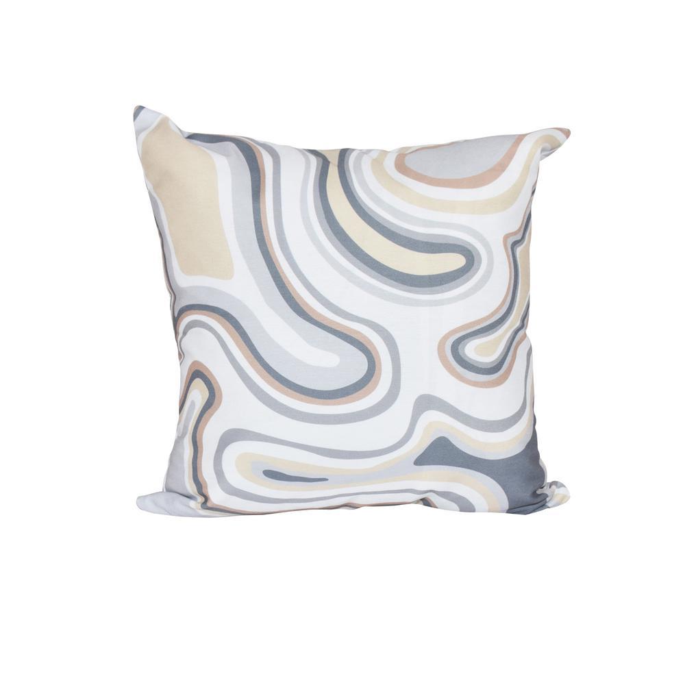 E by design Deep Sea Geometric Print Pillow