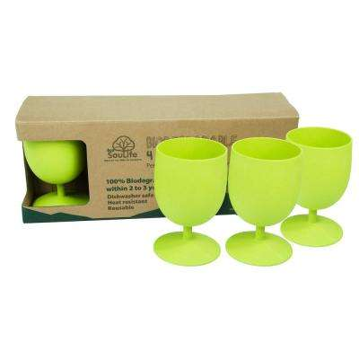 Eco Goblet 15 oz. Lime Bamboo Goblet Set (4-Piece)