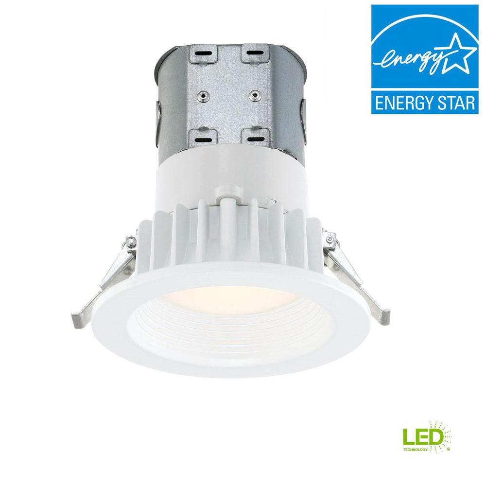 EnviroLite Easy Up 4 in. White Integrated LED Recessed Kit ...