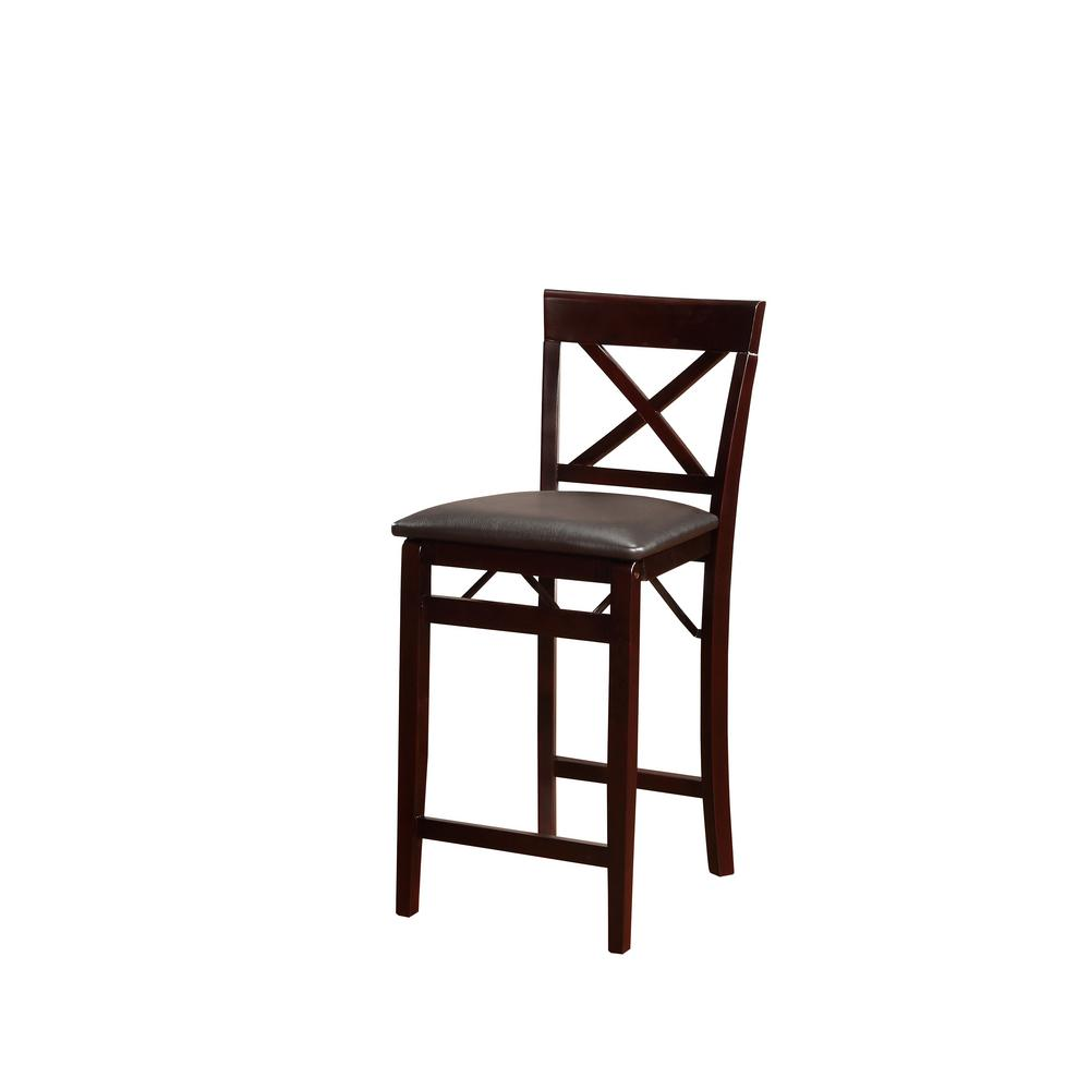 Admirable Linon Home Decor Rich Espresso Wood Portable Folding Chair Spiritservingveterans Wood Chair Design Ideas Spiritservingveteransorg