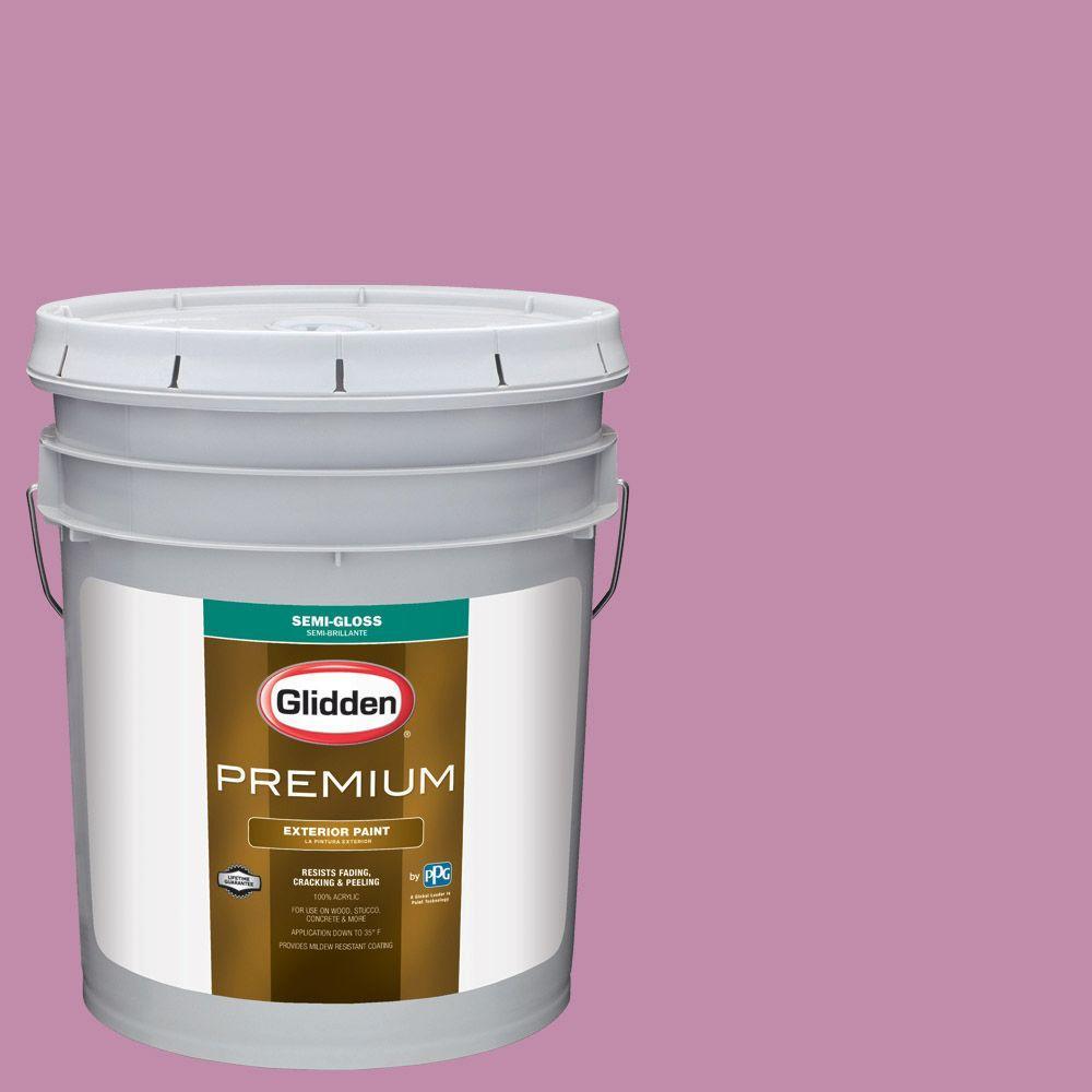 Glidden Premium 5-gal. #HDGR06D Pink Mauve Semi-Gloss Latex Exterior ...