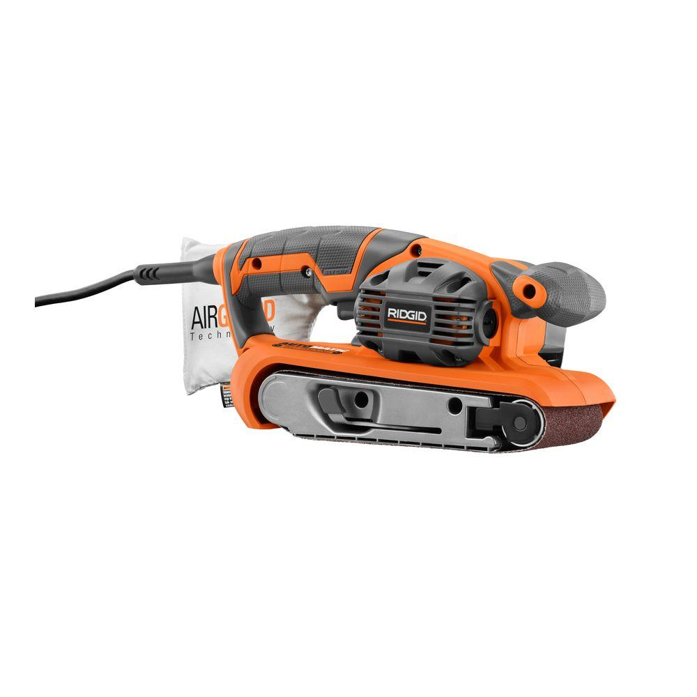 RIDGID 3 in. x 18 in. Heavy Duty Variable Speed Belt Sander with AIRGUARD Technology