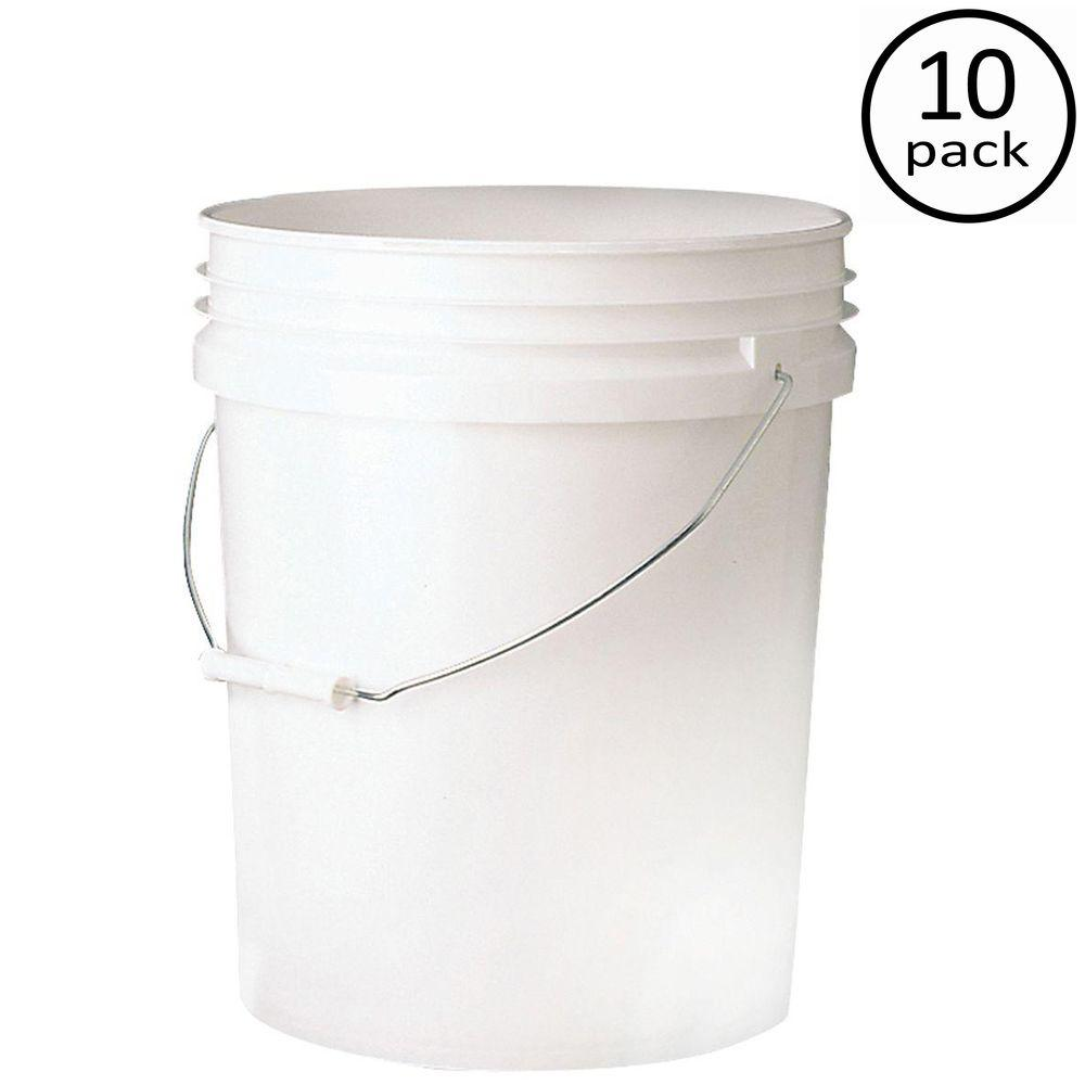 LEAKTITE Premium 5-gal. Food Storage Container (10-Pack)